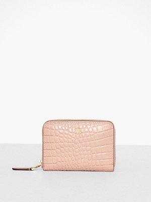 Plånböcker - Lauren Ralph Lauren Mini Croc Emboss-Sm Zip Wllet-Wlt-Sma Rosa