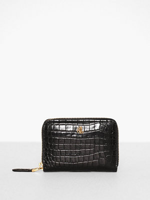 Plånböcker - Lauren Ralph Lauren Mini Croc Emboss-Sm Zip Wllet-Wlt-Sma Svart