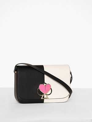 kate spade new york omönstrad axelväska Nicola Bicolor Twistlock Medium Flap Shoulder