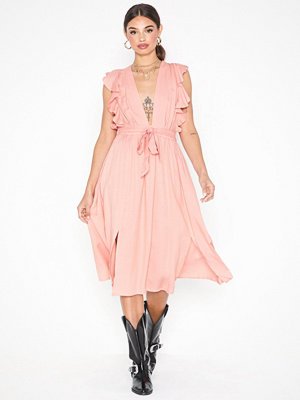 Festklänningar - Glamorous Short Sleeve V Neck Dress