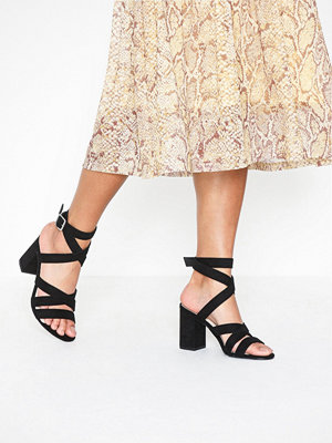 NLY Shoes Crossed Strap Heel