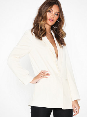 Topshop Ivory Single Breasted Blazer