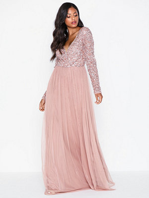 Maya Deluxe Wrap Front Maxi Dress