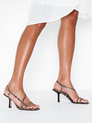 Topshop Snake Heeled Sandals