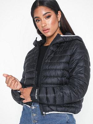 Dunjackor - Calvin Klein Jeans Padded Puffer with Logo Binding Svart