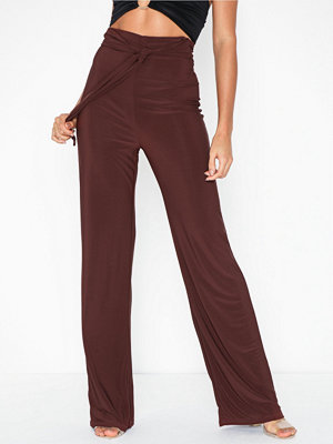 NLY One omönstrade byxor High Waist Tie Pant