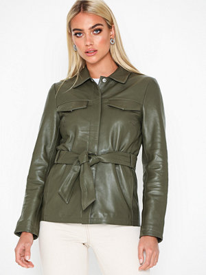 Selected Femme Slfstella Utility Leather Jacket W