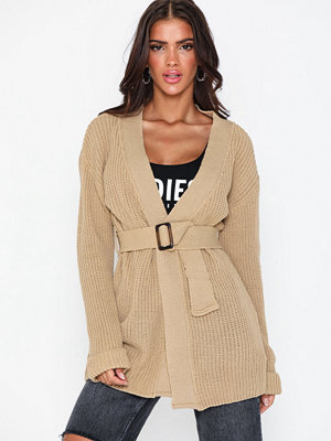 Missguided Horn Belted Chunky Cardigan