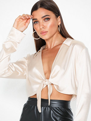 NLY One Satin Tie Top