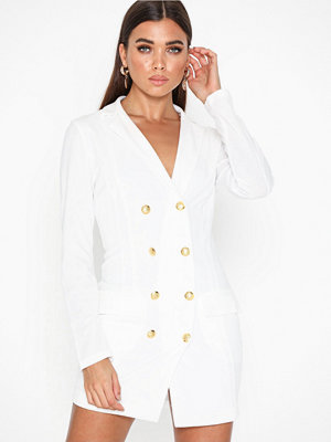 Ax Paris Long Sleeve Blazer Dress White