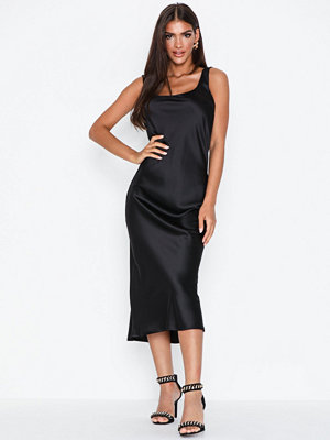Topshop Black Built Up Slip Dress
