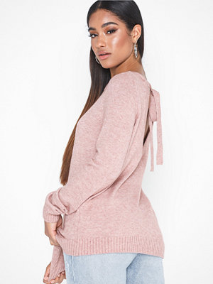 Vila Viril L/S Open Back Knit Top