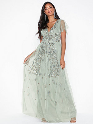 Maya Animal Embellished Maxi Dress