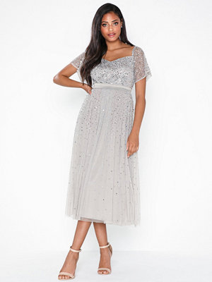 Maya Embellished Bardot Mini Dress
