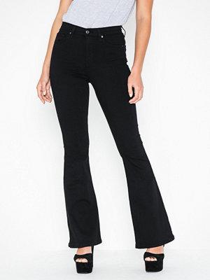Topshop Black Flared Jamie Jeans