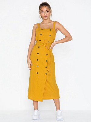 Topshop Belted Pinafore Dress