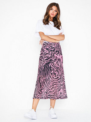 Topshop Pink Zebra Mesh Midi Skirt