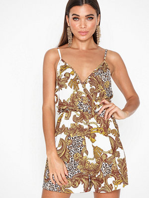 NLY One Strappy Print Playsuit