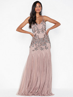 Maya Cami Embellished Fishtail Maxi Dress