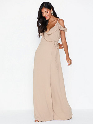 Glamorous V Neck Wrap Maxi Dress