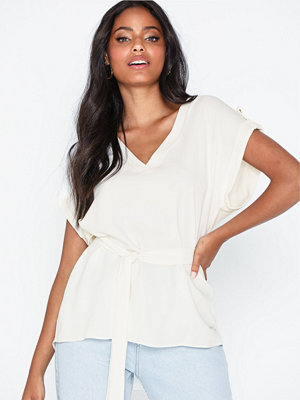 River Island SS Indiana Belted Tee White