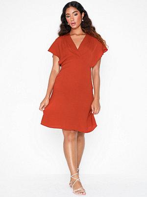 Vila Vijahula S/S Dress/Ki Ljus röd
