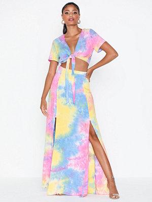 Glamorous Tie Dye Boho Maxi Skirt