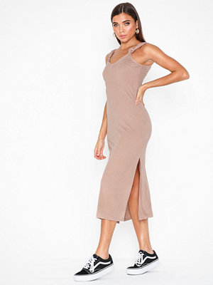 Topshop Cupro Knot Midi Dress