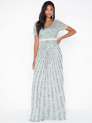Festklänningar - Maya Embellished Short Sleeve Maxi Dress
