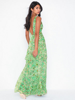 NLY Eve Deep Plunge Flounce Gown