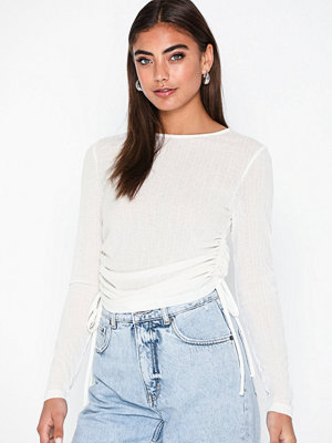 NLY Trend Sheer Drawstring Top