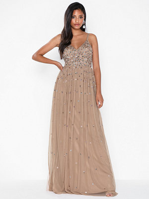 Maya Multi Sequin Maxi Dress