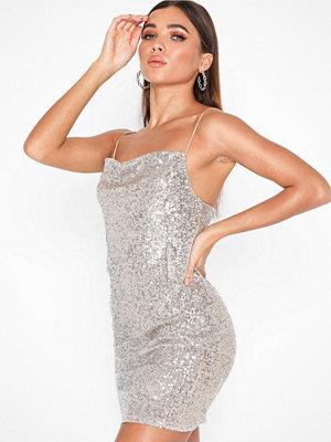 Topshop Sequin Cowl Mini Dress
