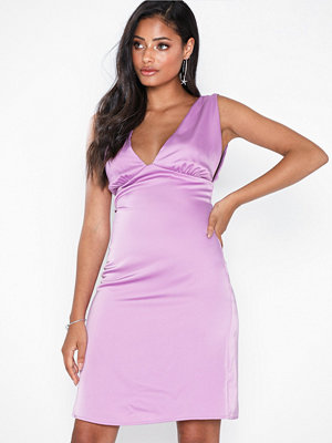 NLY Eve Deep Plunge Satin Dress