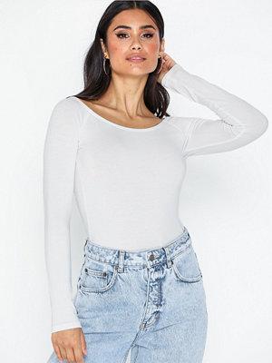 Toppar - NLY Trend Long Sleeve Shoulder Top Vit
