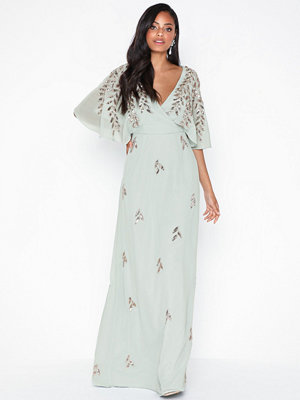Maya Wrap Embellished Maxi Dress
