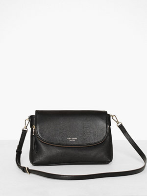 kate spade new york svart axelväska Polly Large Flap Crossbody