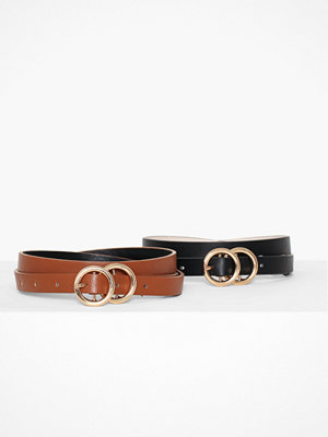 River Island Double Ring Belt 2-Pack
