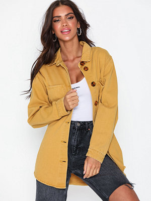 Missguided Tortoise Shell Denim Shirt