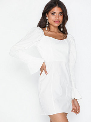 Missguided Poplin Shirring Sleeve Dress