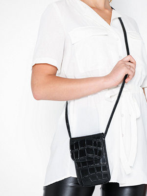 NLY Accessories svart mönstrad axelväska Keep It Close Bag Svart