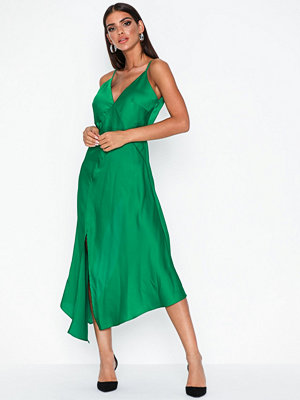 Missguided Satin Cami Front Maxi Dress