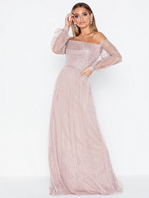 Maya Bardot Bishop Sleeve Maxi Dress