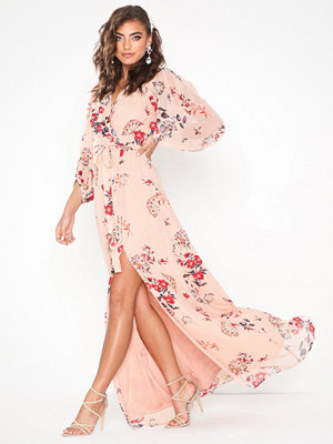 NLY Eve Wrap Balloon Sleeve Gown