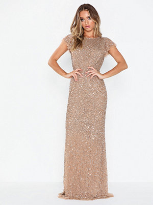 Maya Flutter Sleeve Sequin Maxi Dress
