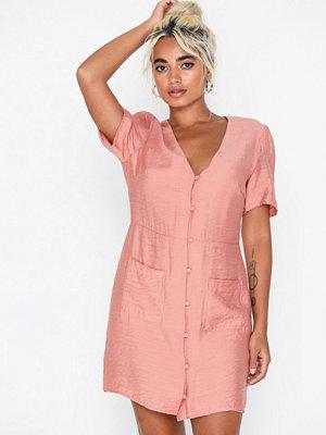 Glamorous Short Sleeve Button Dress