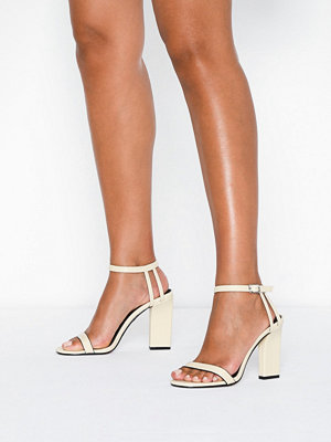 Pumps & klackskor - Topshop Cream Strap Sandals