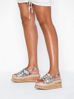 Tygskor & lågskor - Missguided Flatform Corksole Sandal