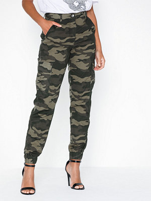 Parisian mönstrade byxor Camoflage Cargo Trousers