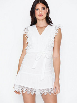Parisian Lace Frill Hem Mini Dress